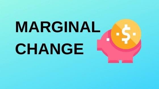 marginal change